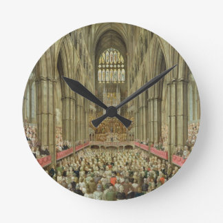 An Interior View of Westminster Abbey on the Comme Round Clock