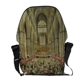An Interior View of Westminster Abbey on the Comme Messenger Bag