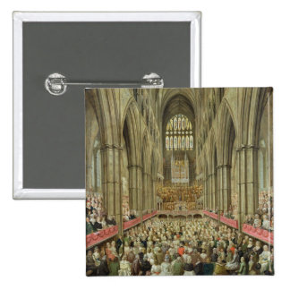 An Interior View of Westminster Abbey on the Comme Pinback Button