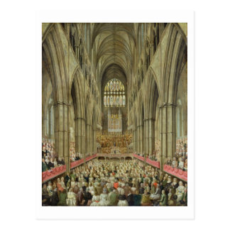 An Interior View of Westminster Abbey on the Comme Postcard