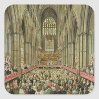 An Interior View of Westminster Abbey on the Comme Square Sticker