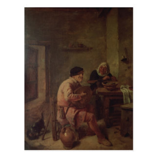 An Interior with Figures Postcard