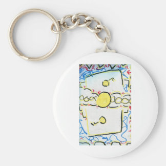 An Invention An Interpretation Worlds of Pattern.j Keychain