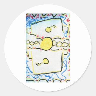 An Invention An Interpretation Worlds of Pattern.j Round Sticker