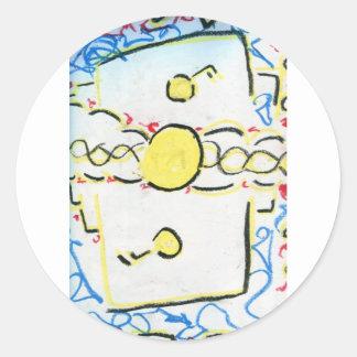 An Invention An Interpretation Worlds of Pattern.j Sticker