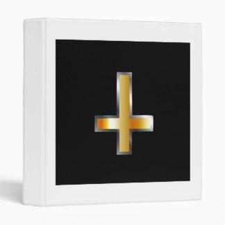 An inverted cross- The Cross of Saint Peter Binder