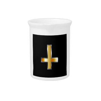 An inverted cross- The Cross of Saint Peter Drink Pitcher