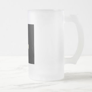 An inverted cross- The Cross of Saint Peter Frosted Glass Beer Mug