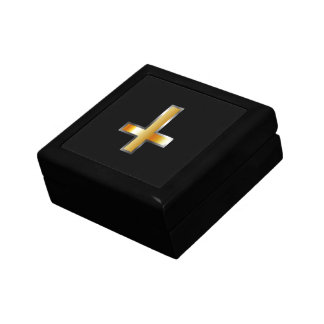 An inverted cross- The Cross of Saint Peter Jewelry Box