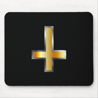 An inverted cross- The Cross of Saint Peter Mouse Pad