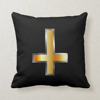 An inverted cross- The Cross of Saint Peter Throw Pillow