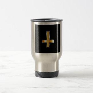 An inverted cross- The Cross of Saint Peter Travel Mug