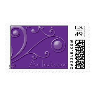 An Invitation-Purple Postage