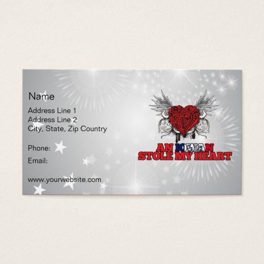 An Iowan Stole my Heart Business Card