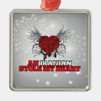 An Iranian Stole my Heart Metal Ornament