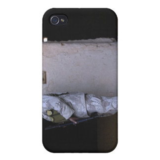 An Iraqi army soldier checks a storage room iPhone 4/4S Cover