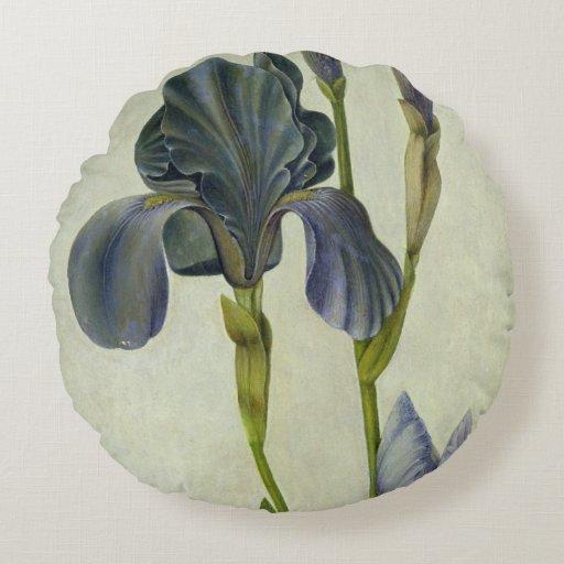 An Iris Round Pillow
