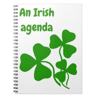 An Irish agenda, shamrock, green clover book