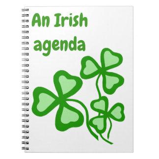 An Irish agenda, shamrock, green clover book 2
