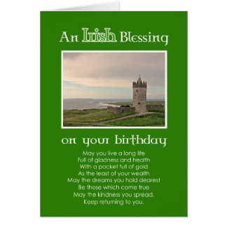 An Irish Blessing - Birthday Custom photo card