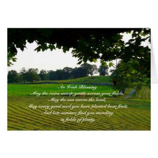 An Irish Blessing-Landscape+Poem Card