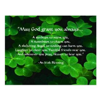 An Irish Blessing Postcard