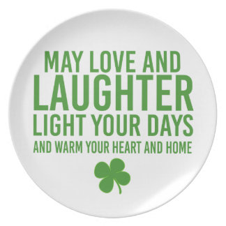 """An Irish Blessing with the phrase """"May Love and... Melamine Plate"""