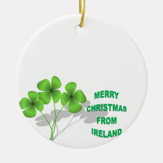 An Irish Christmas Double-Sided Ceramic Round Christmas Ornament