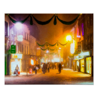 An Irish Christmas In Galway - 16x12 Archival Poster