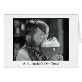 An Irish Drinking Toast Card