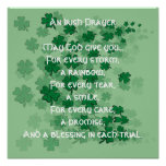 An Irish Prayer - Every Tear -A Smile Posters