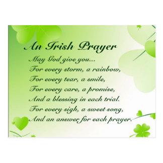 An Irish Prayer - Postcard