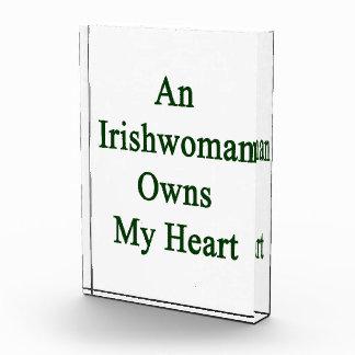 An Irishwoman Owns My Heart Acrylic Award