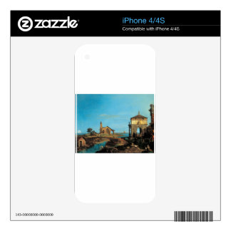 An Island in the Lagoon with a Gateway and Church Decal For The iPhone 4