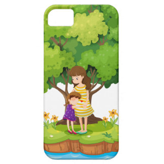 An island with a mother and a daughter iPhone SE/5/5s case