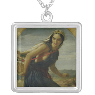 An Israeli Mother, 1857/1860 Square Pendant Necklace