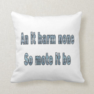 an it harm none blue texture outline pagan.png pillow