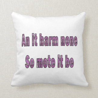 an it harm none purple texture outline pagan.png pillows