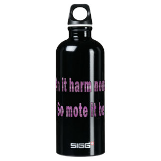an it harm none purple texture outline pagan.png water bottle