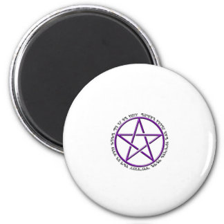 an it harm none theban woven pentacle 2 inch round magnet