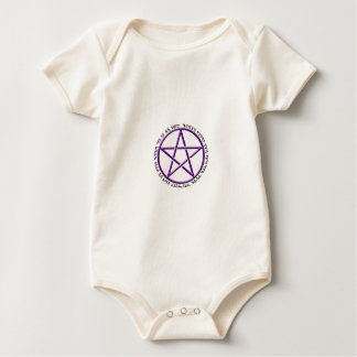 an it harm none theban woven pentacle baby bodysuit