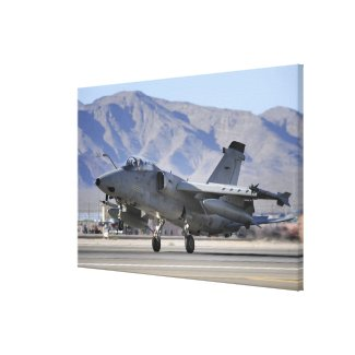 An Italian Air Force AMX fighter Canvas Print