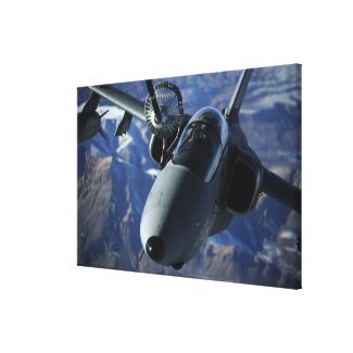 An Italian AMX is refueled by a KC-10A Extender Canvas Print