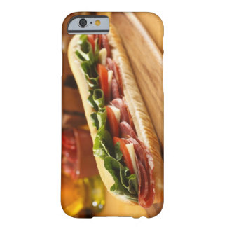 An Italian sub sandwich with 2 Barely There iPhone 6 Case