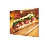 An Italian sub sandwich with 2 Canvas Print