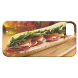An Italian sub sandwich with 2 iPhone 5 Case