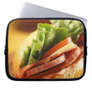 An Italian sub sandwich with Computer Sleeve