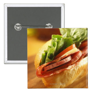 An Italian sub sandwich with Pinback Button