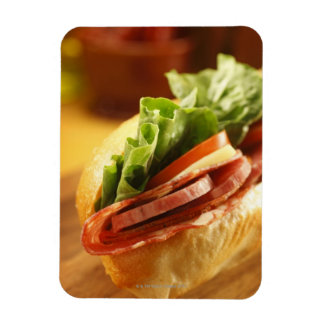 An Italian sub sandwich with Rectangle Magnets