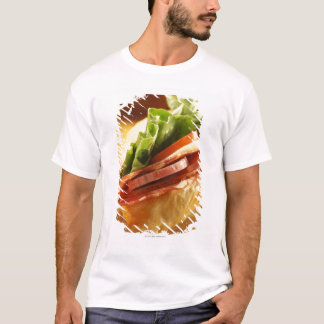 An Italian sub sandwich with T-Shirt